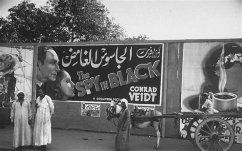 Cairo in 1940 showing a movie add for