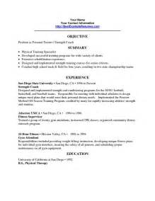 personal trainer resume objective resume cv cover letter