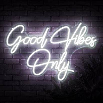 Vibes Neon Signs Sketch Etch Quotes Cool