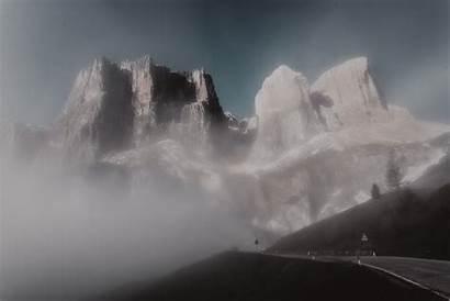 Pegunungan Dolomites Kabut Puncak Desktop Gunung Dingin