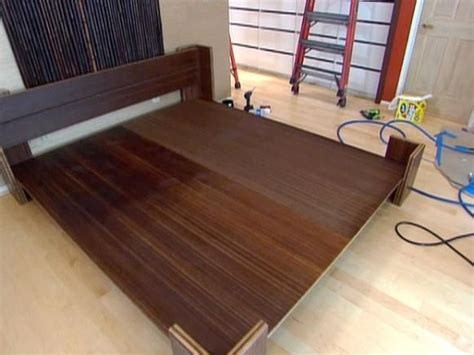 build  bamboo platform bed making  bed frame