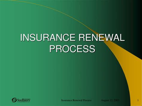 insurance renewal process powerpoint