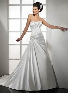 stock design off the shoulder white satin a line wedding With white satin wedding dress