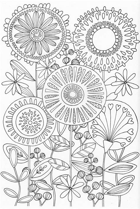 Kleurplaat Flower by Scandinavian Coloring Book Pg 31 Colouring Printable