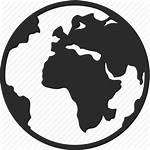 Icon Globe Earth Map Global Planet Web