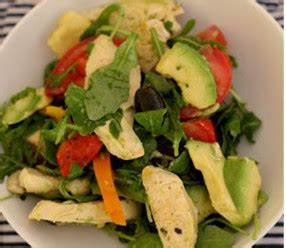 Salade Poulet Avocat : salade de poulet poivrons tomate roquette et avocat ~ Melissatoandfro.com Idées de Décoration