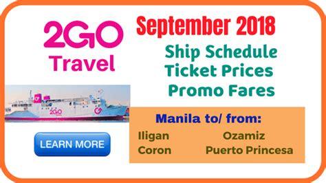 2go Boat Schedule by 2go Promo Tickets 2018 And More Boat Info Promo Fare