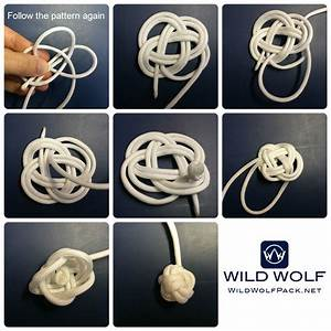Monkey Fist Paracord Keychain    Wildwolfpack