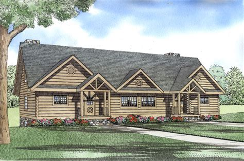 log cabin duplex plan chp   coolhouseplanscom