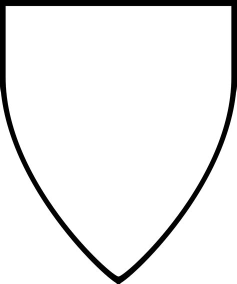 heraldric templates shield template star outline