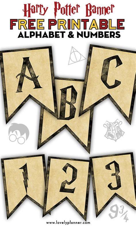printable harry potter banner  alphabet