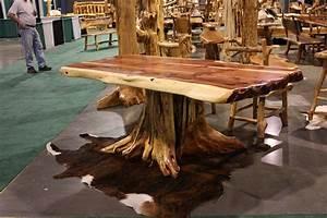 7' Cedar Root Natural Slab Table - Treemendous