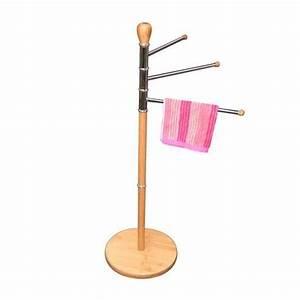 Porte Serviette En Bambou : accessoires de salle de bain en bambou maison fut e ~ Nature-et-papiers.com Idées de Décoration