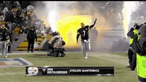 Ben Roethlisberger Takes The Field In Sweatpants GIF