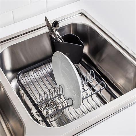 kitchen sink dish drying racks umbra sinkin sink dish rack kitchen stuff plus 8462
