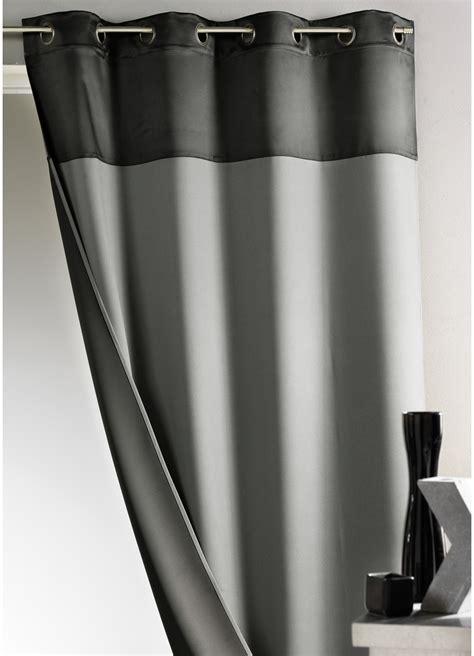 rideau bicolore 100 occultant gris homemaison vente en ligne rideaux