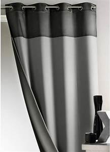Rideau Voilage Pas Cher : rideau bicolore 100 occultant gris homemaison vente en ligne rideaux ~ Teatrodelosmanantiales.com Idées de Décoration