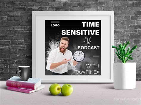 Ready to use in your projects, app showcases and presentations! ‎Time Sensitive itunes podcasts cover design + free mockup ...