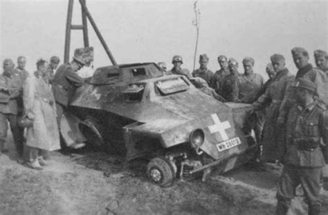Destroyed German Vehicle In Poland