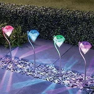 solarlampe fur garten mit 4er set farbwechsel edelstahl With französischer balkon mit solarleuchten für den garten mit farbwechsel
