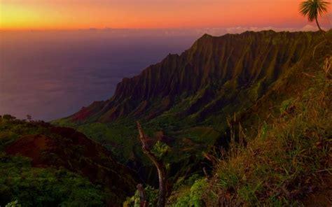hd kauai valley hawaii  sunset wallpaper