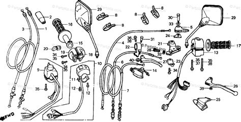 honda motorcycle 1983 oem parts diagram for handle switch cable partzilla
