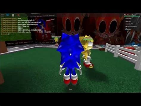 sonic exe y tails doll roblox