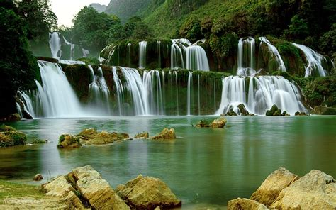 ban gioc detian falls desktop wallpaper full screen
