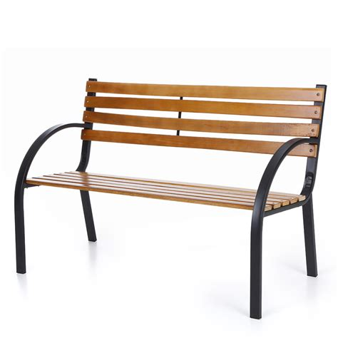cast iron bench ikayaa outdoor garden park bench patio furniture cast iron leg painted wood b2h2 ebay