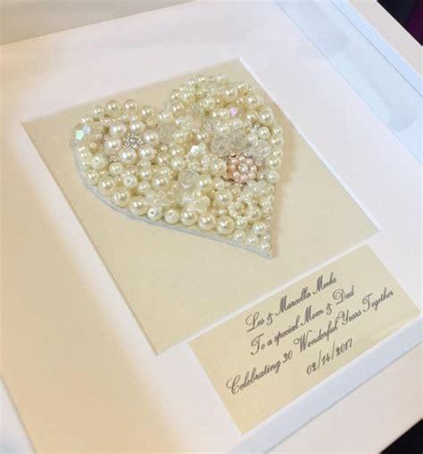 ein sch 246 nes selbstgemachtes geschenk zum 30 hochzeitstag pearl feiern in einem white box