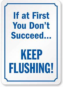 If at first you don39t succeedkeep flushing for Funny bathroom songs