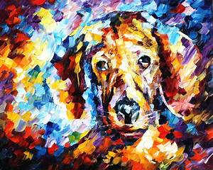 DOG 4 — Palette knife Oil Painting on Canvas by Leonid