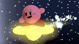 Kirby Flying on a Star! by Carro1001 on DeviantArt