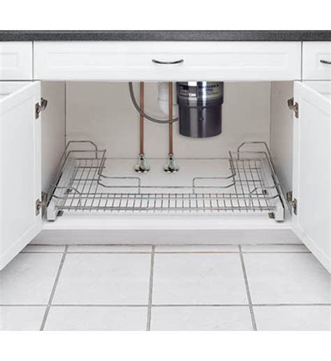 under sink sliding organizer sliding under sink organizer u shaped in under sink