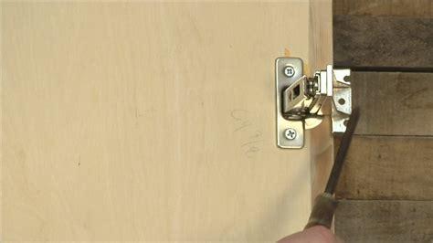 how to adjust cabinet doors how to adjust cabinet door hinges ehow