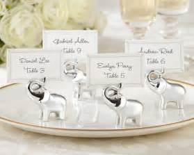 place card holders wedding quot lucky in quot silver finish lucky elephant place card photo holder set of 4