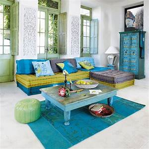 banquette canape d39angle 6 places modulable bleu vert With canape angle turquoise