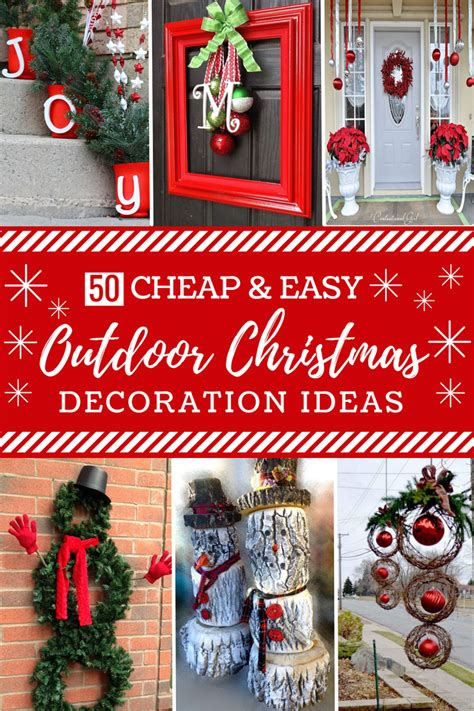 cheap easy diy outdoor christmas decorations