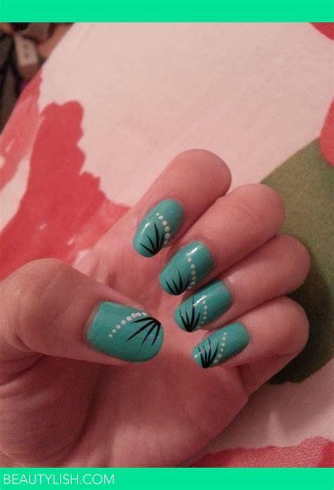 mintturquoise   simple nail art design tara ms