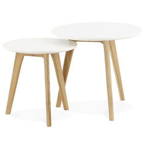meubles de bureau bruxelles table gigogne ronde gaby au design scandinave table d