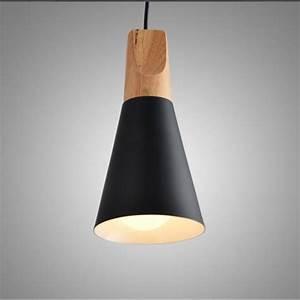 Luminaire 3 Suspensions : e27 suspensions luminaire metal noire plafonnier luminaire aluminium et bois plafond lustre ~ Teatrodelosmanantiales.com Idées de Décoration