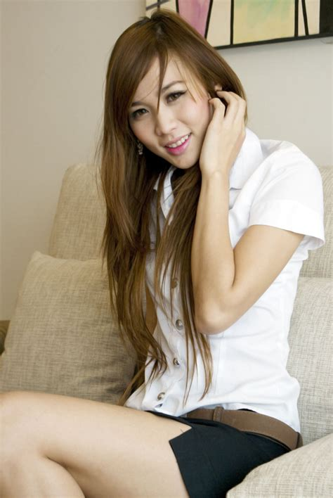 Sexy Cute Thai Girl With Her Student Uniform Page Milmon Sexy Picpost