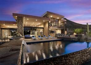 Beautiful Modern House In Desert Architectural Drawing