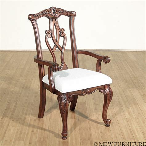 mahogany chippendale dining arm chair ebay