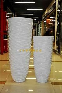 Customer List 112 Wavy White Large Floor Vase Modern Fashion Flower