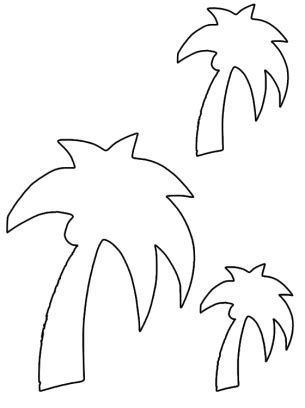 palm tree template palm tree activities template