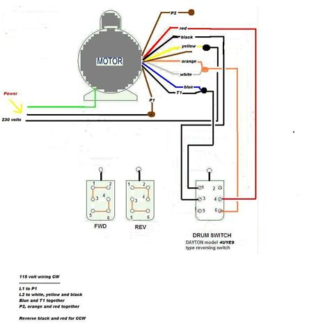 craig we r trying to wire an electric 220 v motor for our to the 4uye9 drum