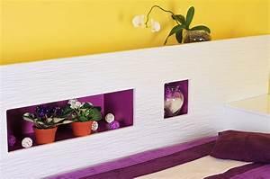 Wandgestaltung Schlafzimmer Lila : tapeten mehr 12 ideen zur wandgestaltung im schlafzimmer ~ Markanthonyermac.com Haus und Dekorationen