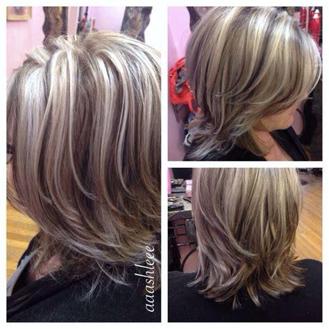 putting lowlights  graying hair hairstylegalleriescom