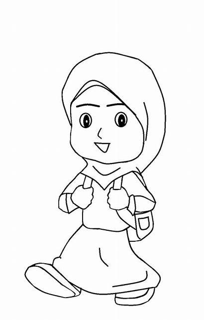 Gambar Mewarnai Orang Anak Kartun Untuk Sholat